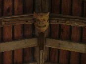 devil head in the south aisle roof