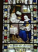 east window: comforting the sick
