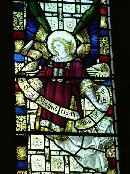 east window: the Good Sheperd gives his life for the sheep