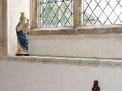 Remember here Hugh Whitwham, Priest Vicar of this parish 1959-1977 who restored this chapel of the Blessed Virgin Mary for worship after 400 years of disuse