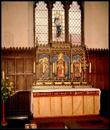 the reredos in situ at Norwich All Saints, early 1970s (c) Roger Smith