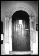 1937: the Norman south doorway in situ at St Michael at Thorn (c) George Plunkett