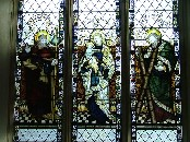 St James and St Andrew flanking the Blessed Virgin