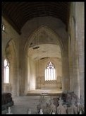 the chancel arch at Tottington, now in the forbidden zone