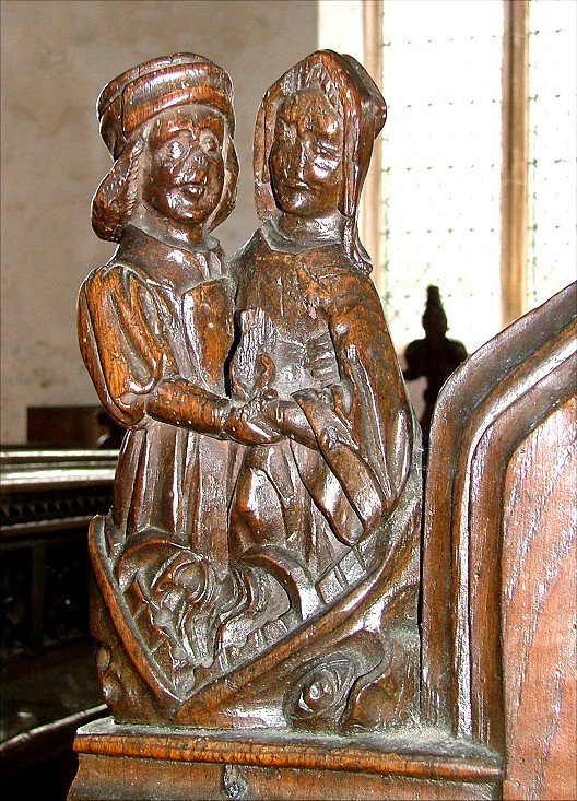 Carving church image lust medieval sexual